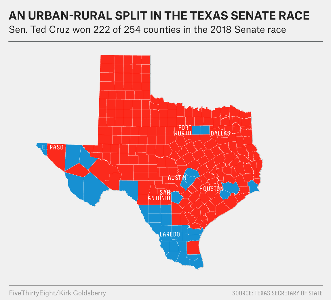 How Beto O'Rourke Shifted The Map In Texas